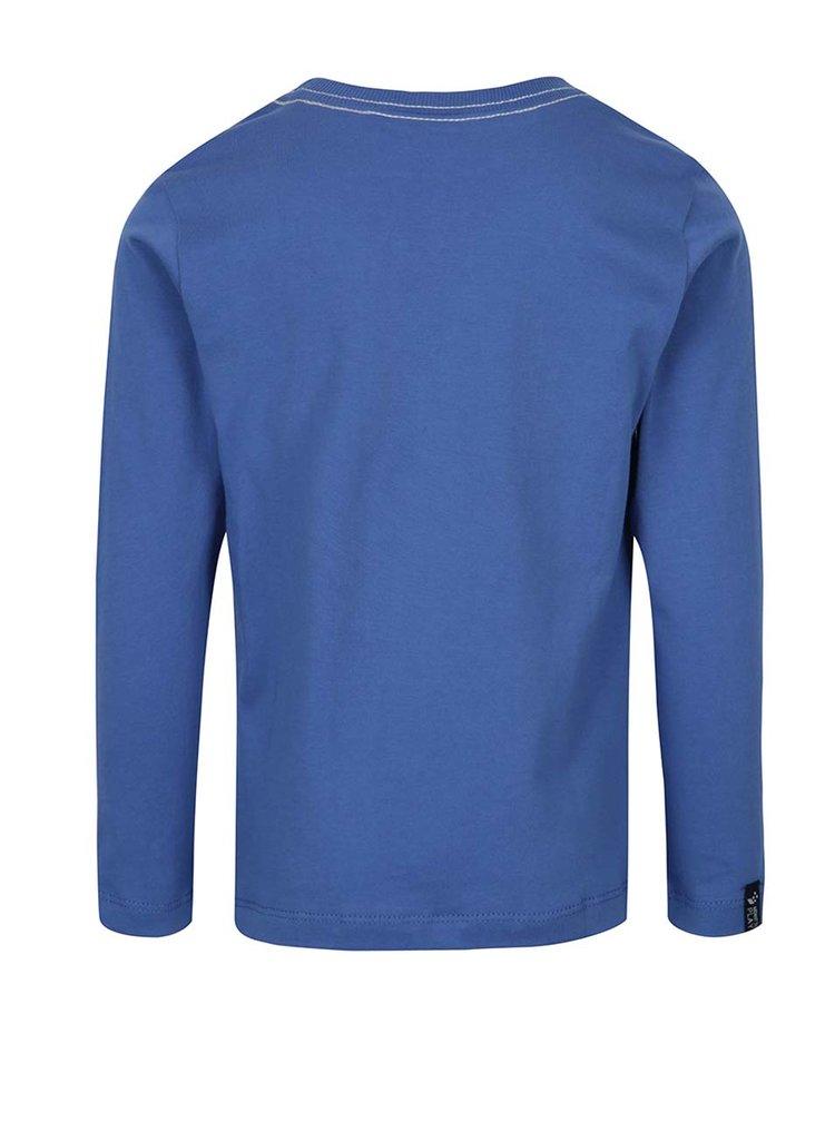 Modré klučičí tričko s dlouhým rukávem a potiskem Lego Wear Teo