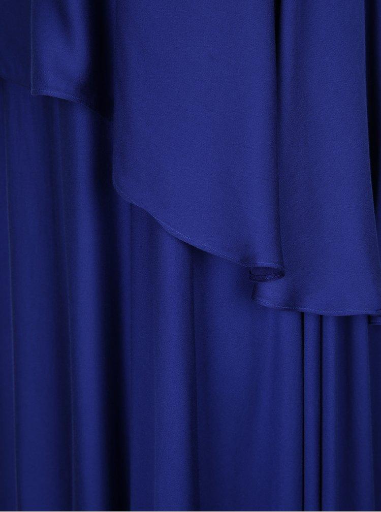 Modré asymetrické volné maxišaty Aer Wear