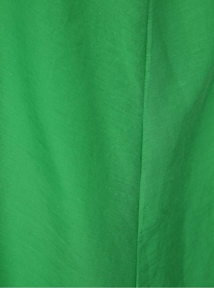 Rochie verde lunga cu volane Aer Wear