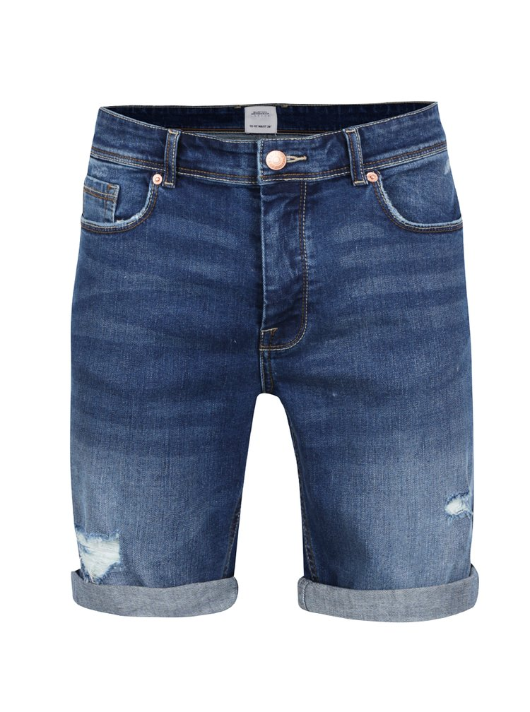 Pantaloni scurti albastri din denim Burton Menswear London