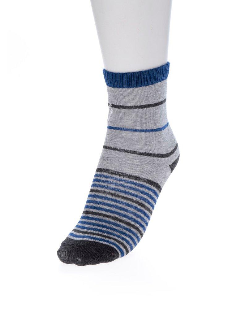 Sada třech párů klučičích ponožek v modré a šedé barvě Lego Wear Ayan