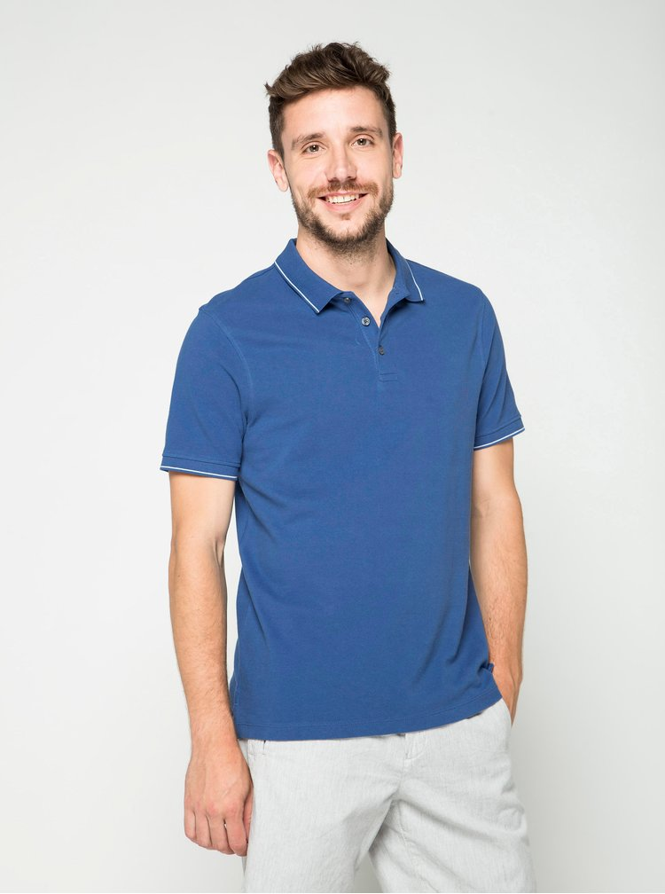 Tricou polo albastru Burton Menswear London