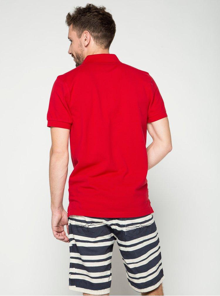 Pantaloni scurti albi&bleumarin cu model in dungi s.Oliver pentru barbati