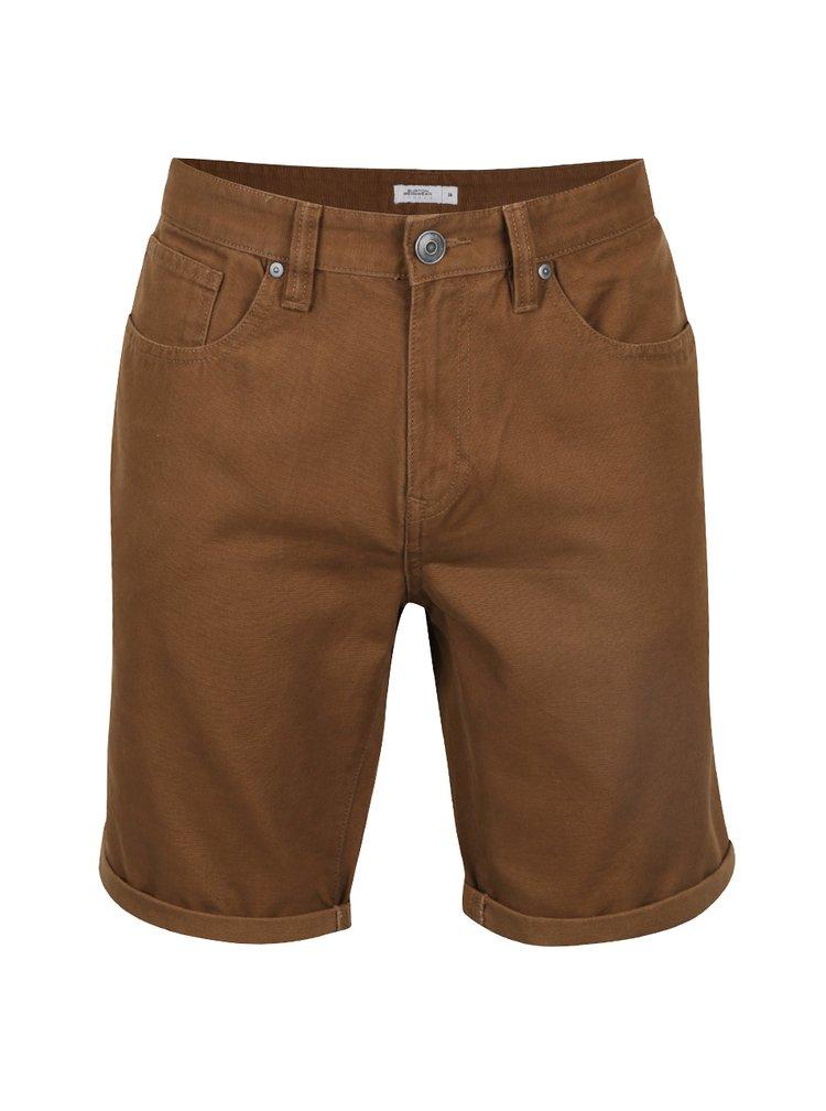 Pantaloni scurți maro Burton Menswear London din denim