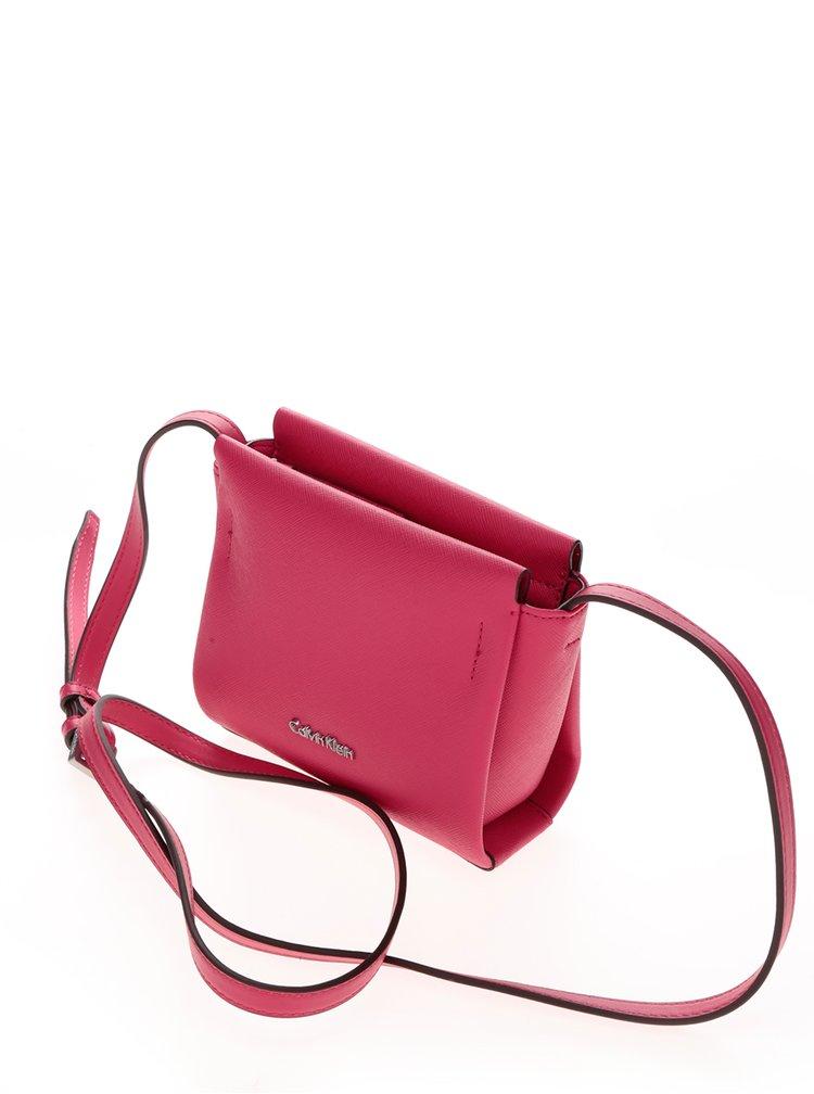 Růžová malá crossbody kabelka Calvin Klein Jeans Marissa