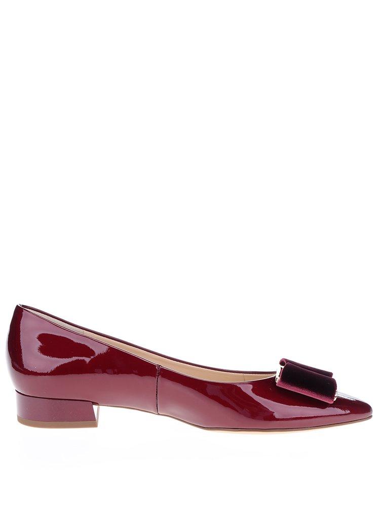 Pantofi rosu bordo din piele lacuita - Högl