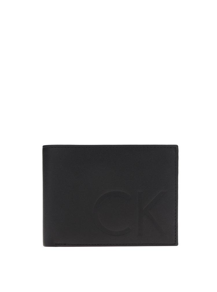 Černá pánská kožená peněženka Calvin Klein Jeans F1nn