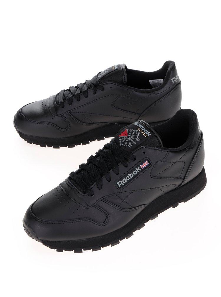 Černé pánské kožené tenisky Reebok GUM