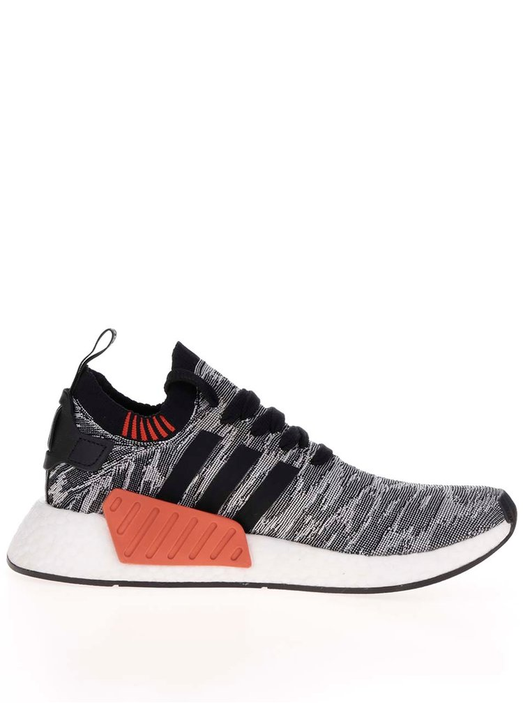Pantofi sport gri cu negru pentru bărbați adidas Originals NMD