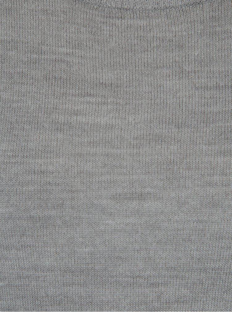 Sivé svetrové šaty Jacqueline de Yong Nona