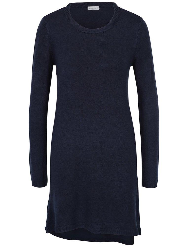 Tmavě modré svetrové šaty Jacqueline de Yong Nona