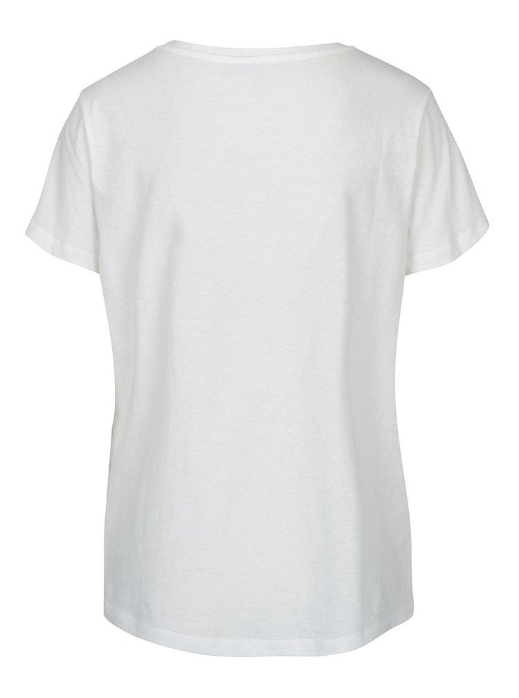 Tricou alb cu mesaj - Jacqueline de Yong Marble