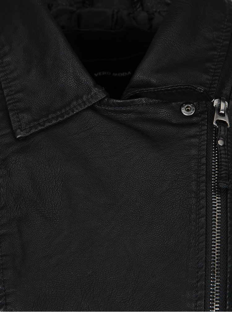 Jachetă neagră biker  VERO MODA Taylor