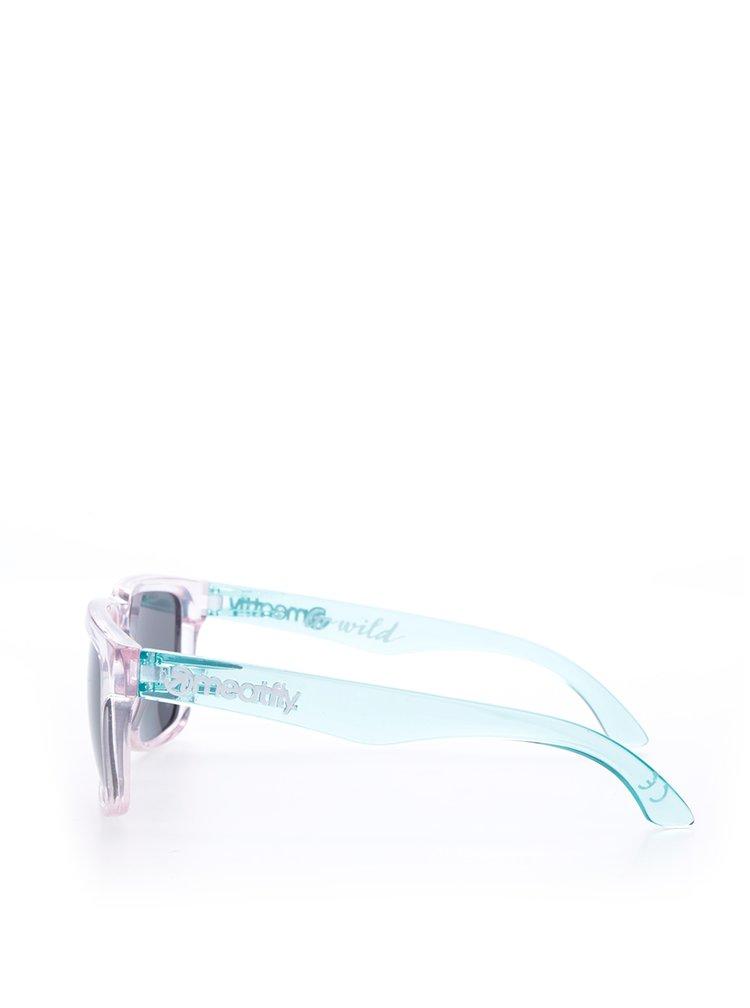 Zeleno-růžové sluneční brýle Meatfly