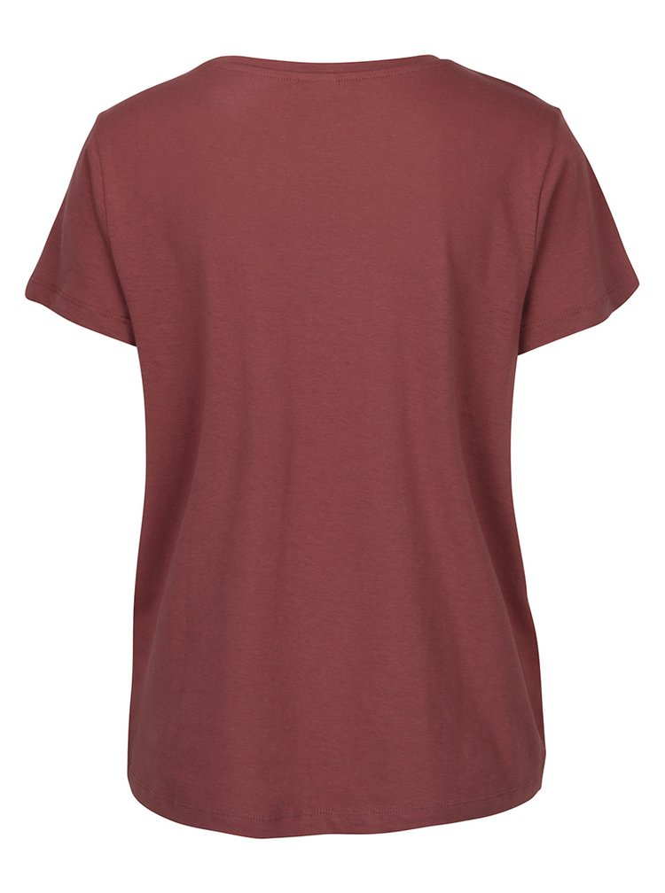 Cihlové tričko s potiskem Jacqueline de Yong Marble