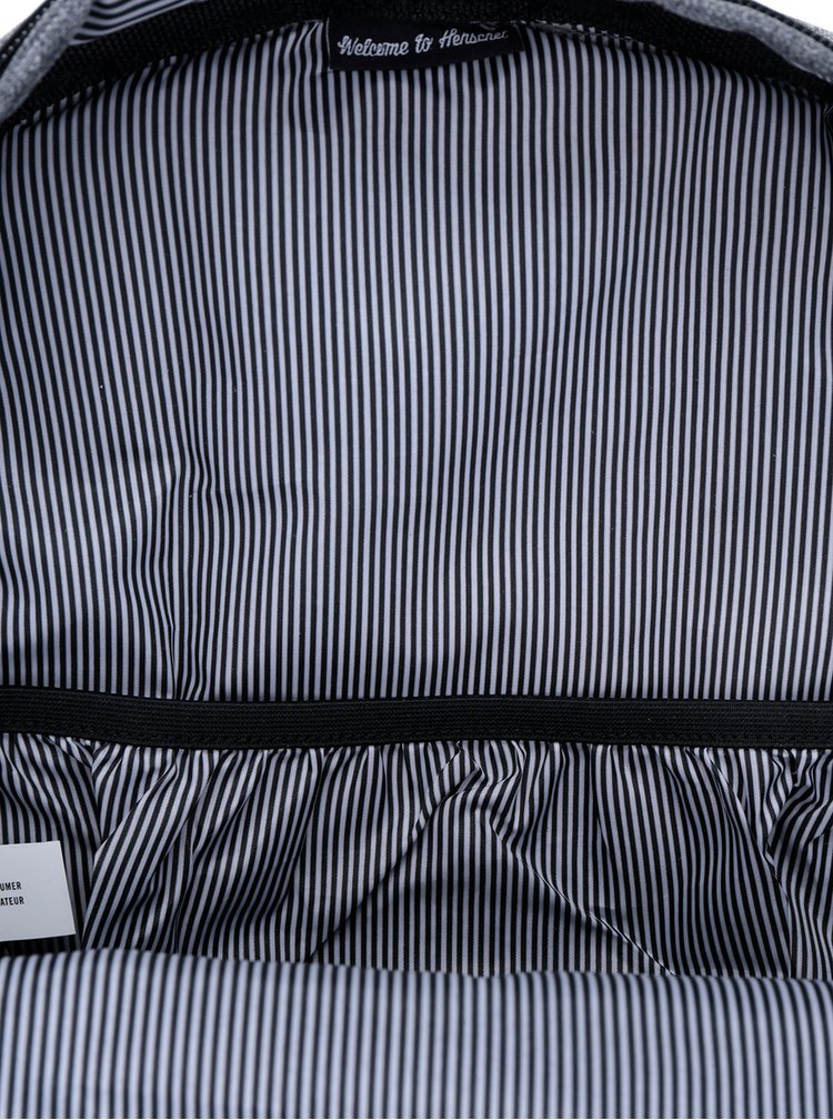 Rucsac gri&negru cu perforatii - Herschel Settlement 23 l