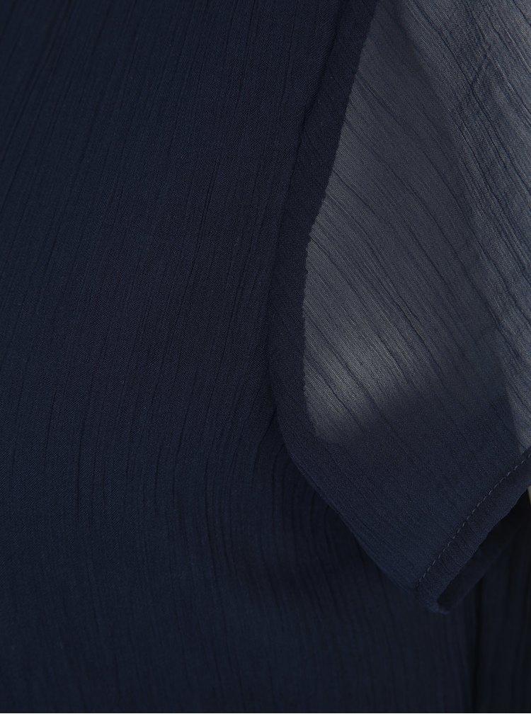 Rochie midi bleumarin din voal VERO MODA Lisa