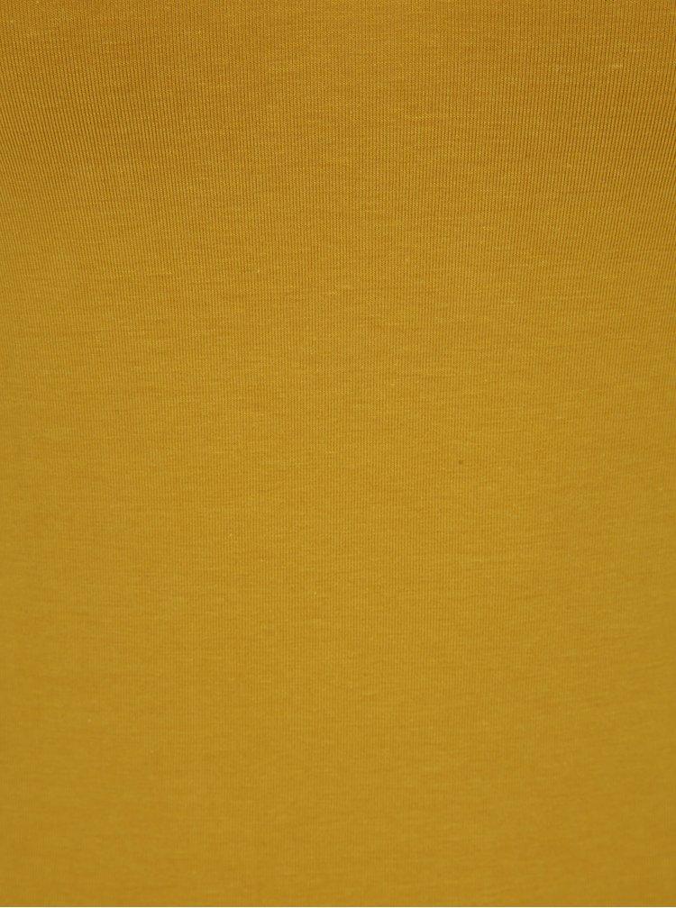Top galben muștar cu bretele VERO MODA Maxi My Soft