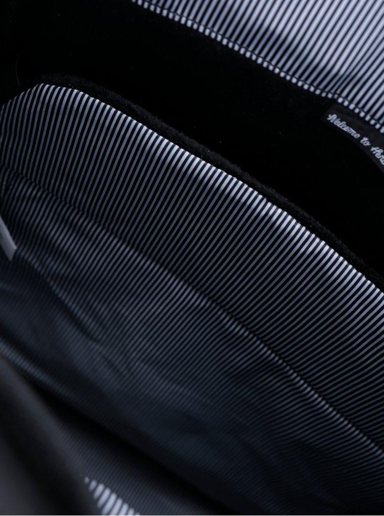 Rucsac negru cu detalii perforate Herschel Little America 25 l
