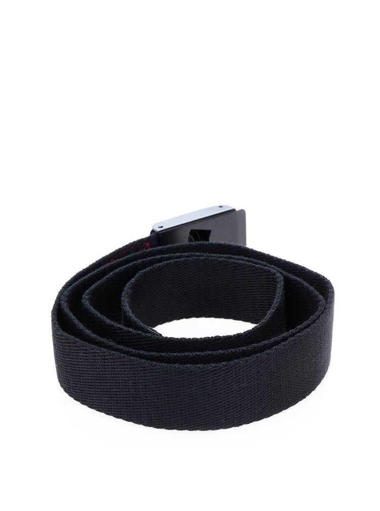 Černý pánský pásek s detaily v červené barvě NUGGET Booker