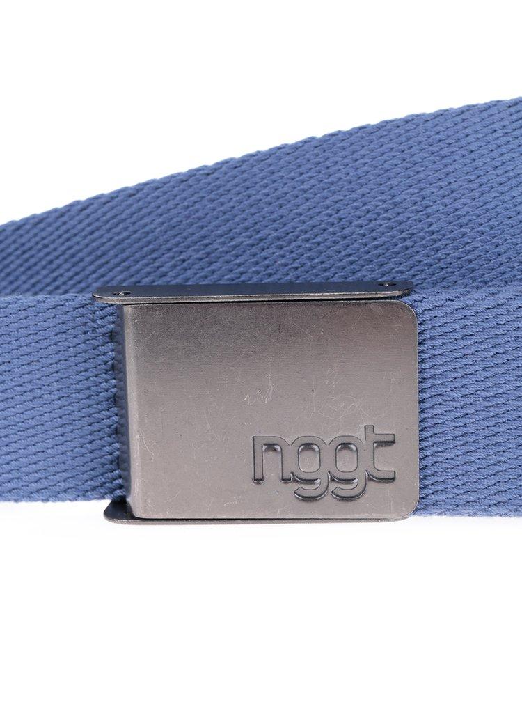 Modrý pánský pásek s kovovou přezkou NUGGET Faux