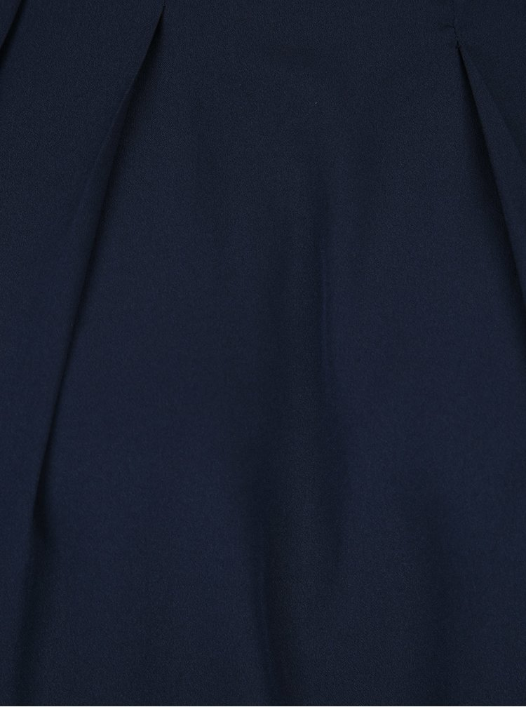 Tmavě modrá halenka bez rukávů VERO MODA Vanessa