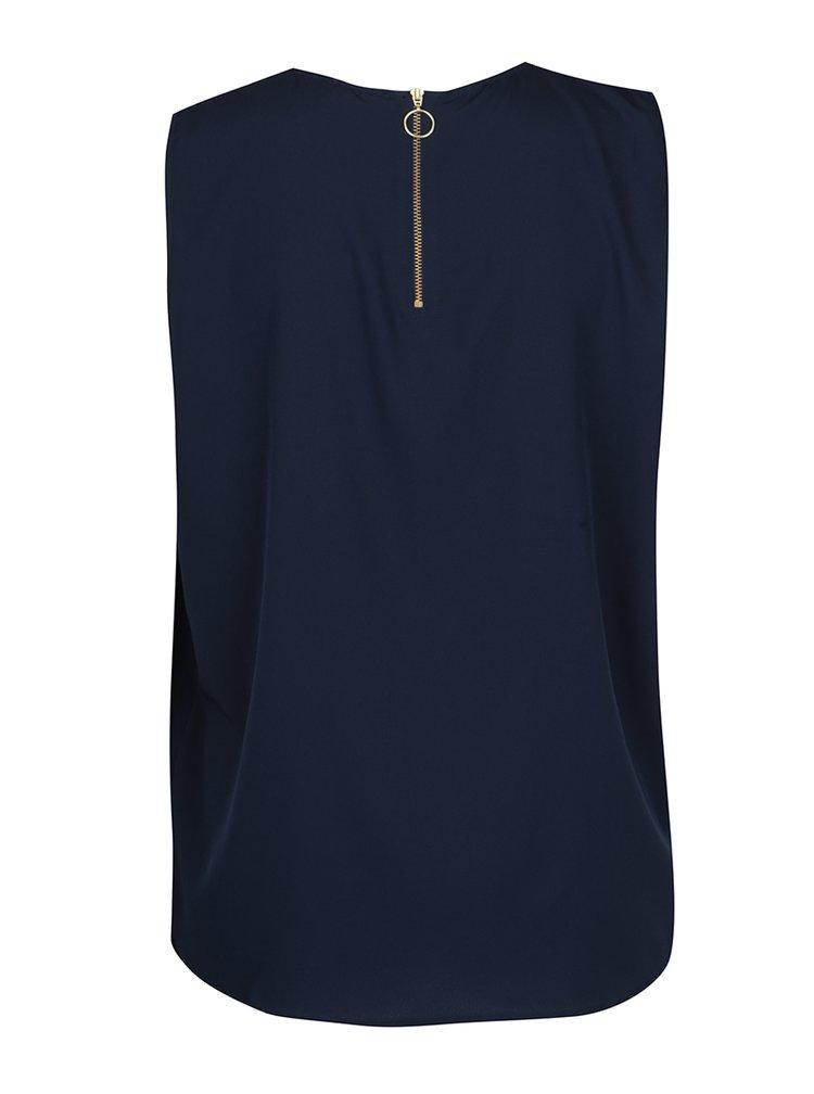 Bluza bleumarin fara maneci  VERO MODA Vanessa