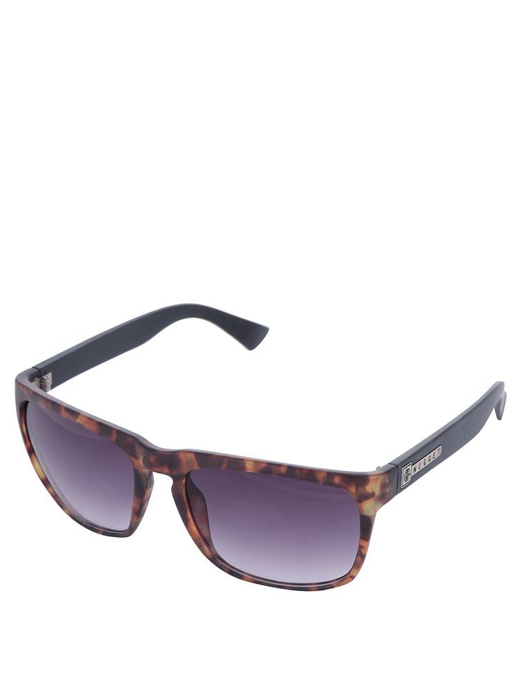 Černo-hnědé vzorované sluneční brýle NUGGET Shell