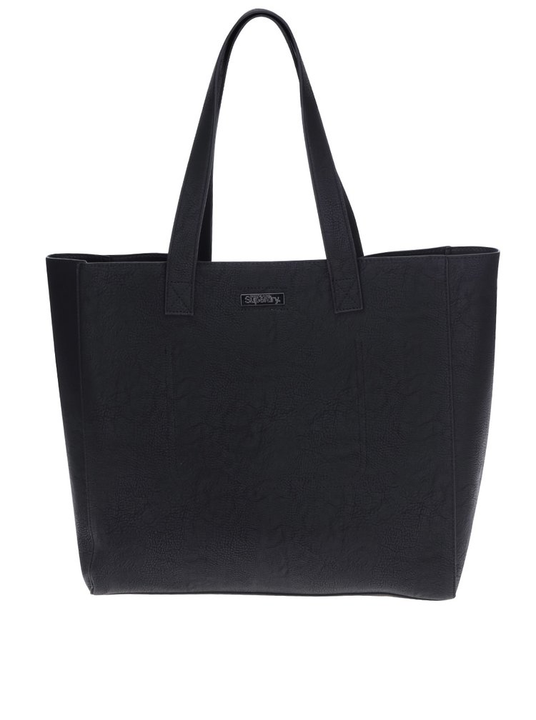 Geanta shopper neagra aspect 2 in 1 - Superdry Elaina