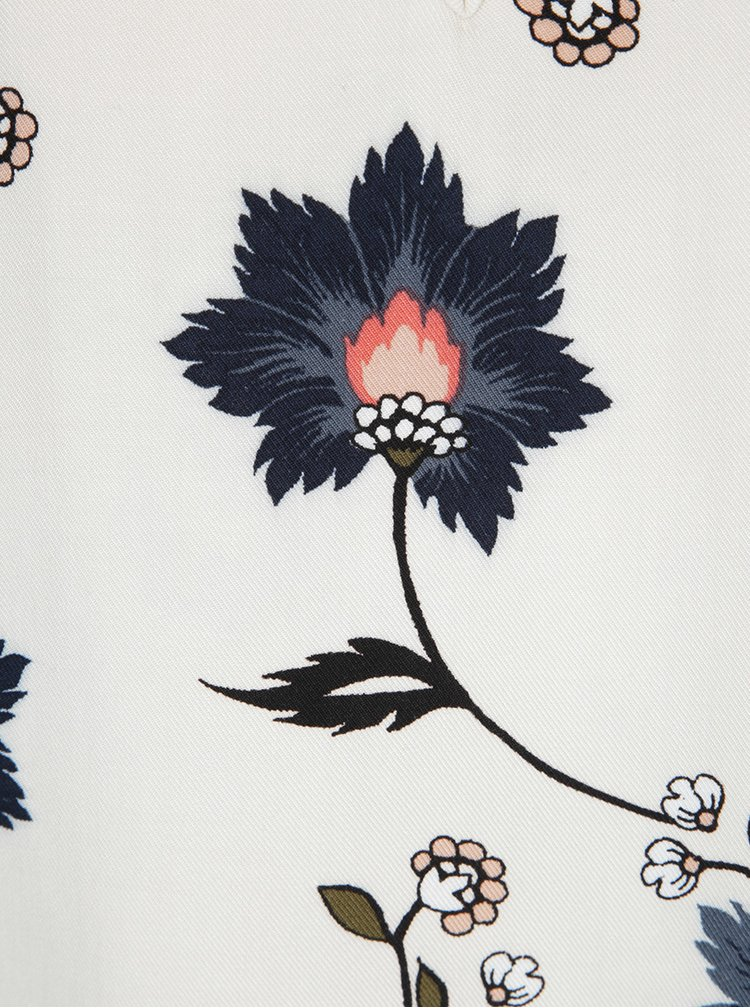 Bluză crem cu print floral multicolor VERO MODA Nadia
