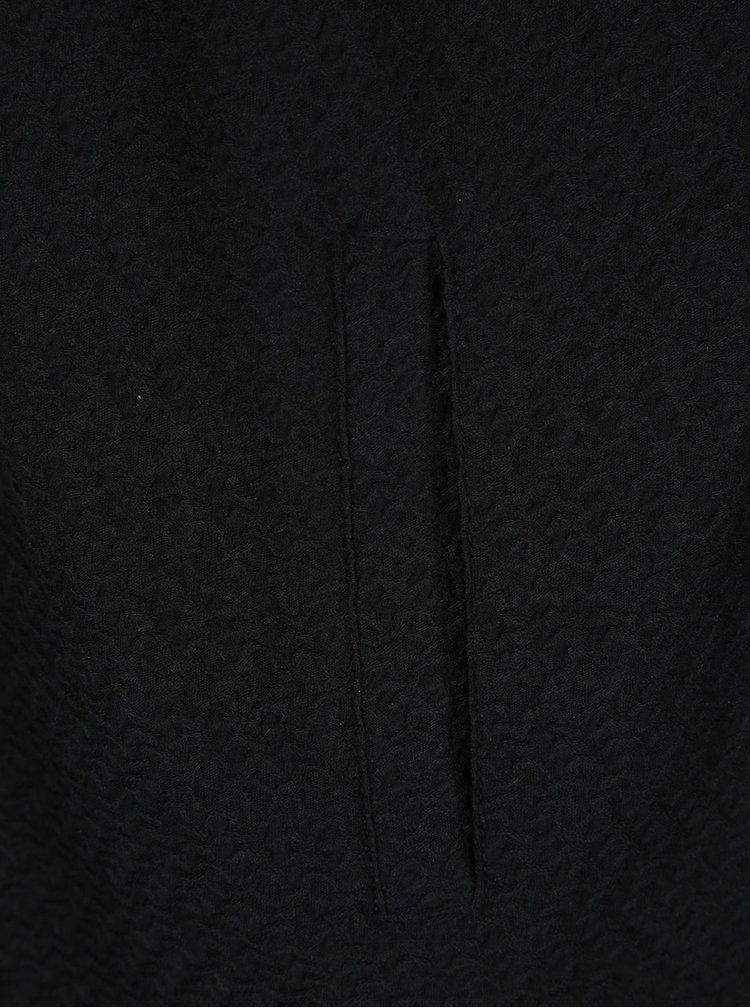 Černý lehký kabát VERO MODA Ditte