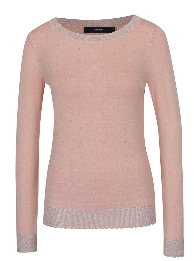 Světle růžový svetr VERO MODA Montclair