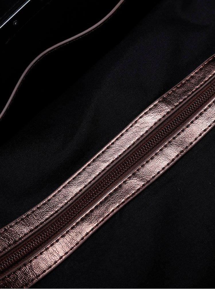 Geantă shopper bronz metalic aspect 2 în 1 - Superdry Elaina