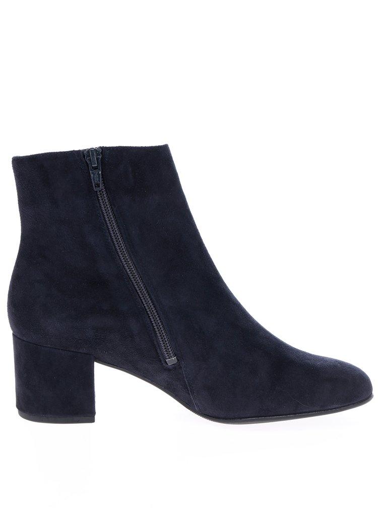 Tmavě modré semišové kotníkové boty Högl