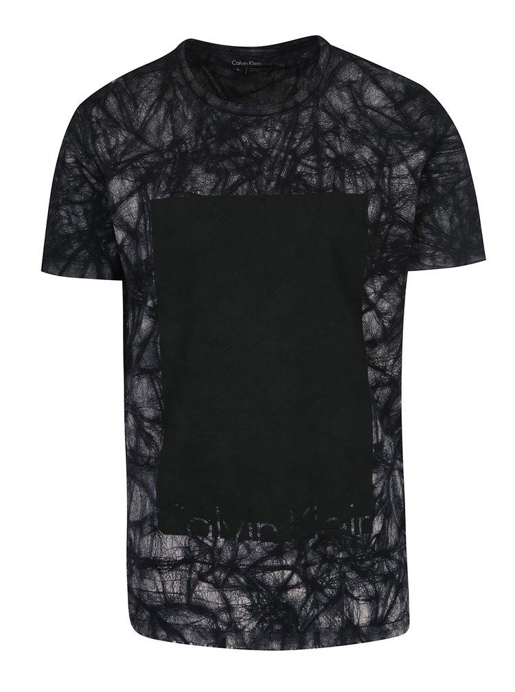 Černé pánské triko s potiskem Calvin Klein Jeans Tanos