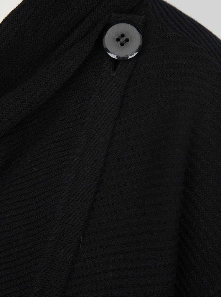 Cardigan negru cu croi suprapus și nasture VERO MODA Anna