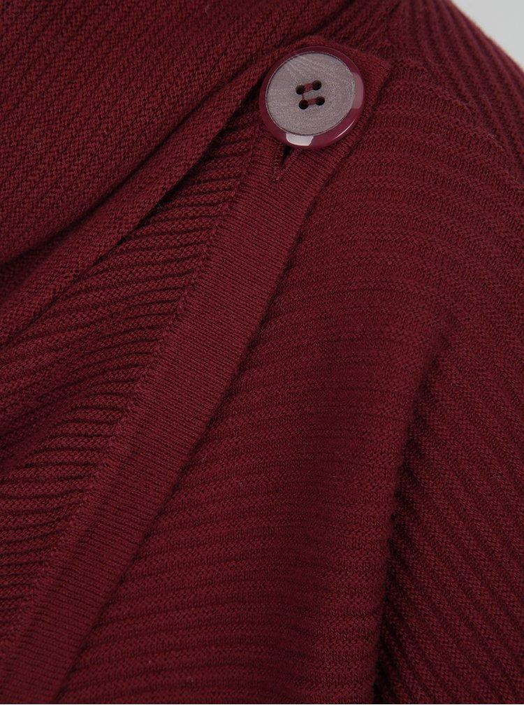 Vínový svetr s asymetrickým zapínáním VERO MODA Anna