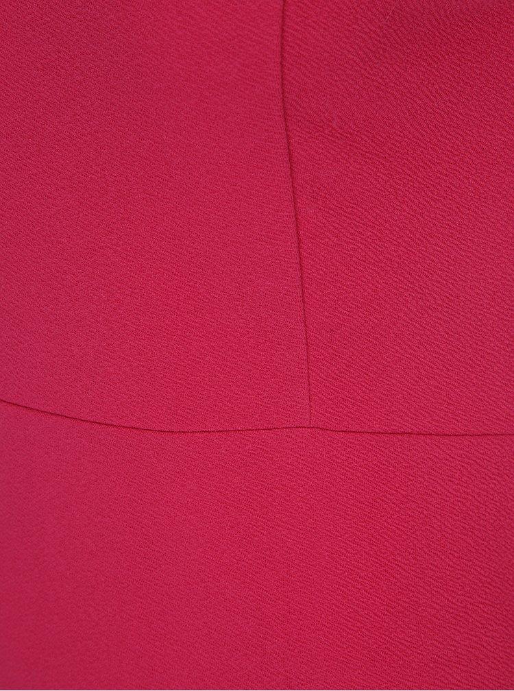 Růžové pouzdrové šaty s odhalenými rameny AX Paris