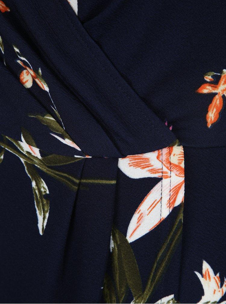Tmavě modré květované šaty s odhalenými rameny AX Paris