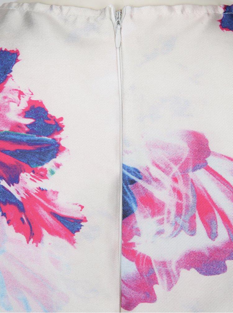 Světle růžové květované pouzdrové šaty bez rukávů AX Paris