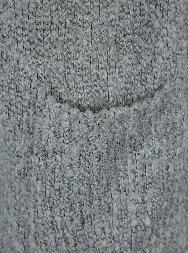 Světle šedý kardigan s kapsami Jacqueline de Yong Rio