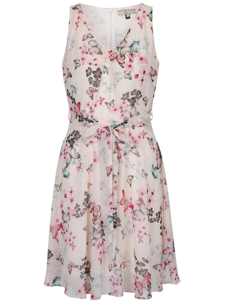 Rochie roz deschis cu model floral Billie & Blossom Petite