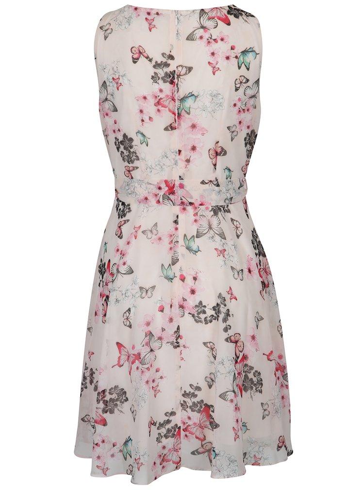 Růžové šaty s motivem motýlů a květů Billie & Blossom Petite