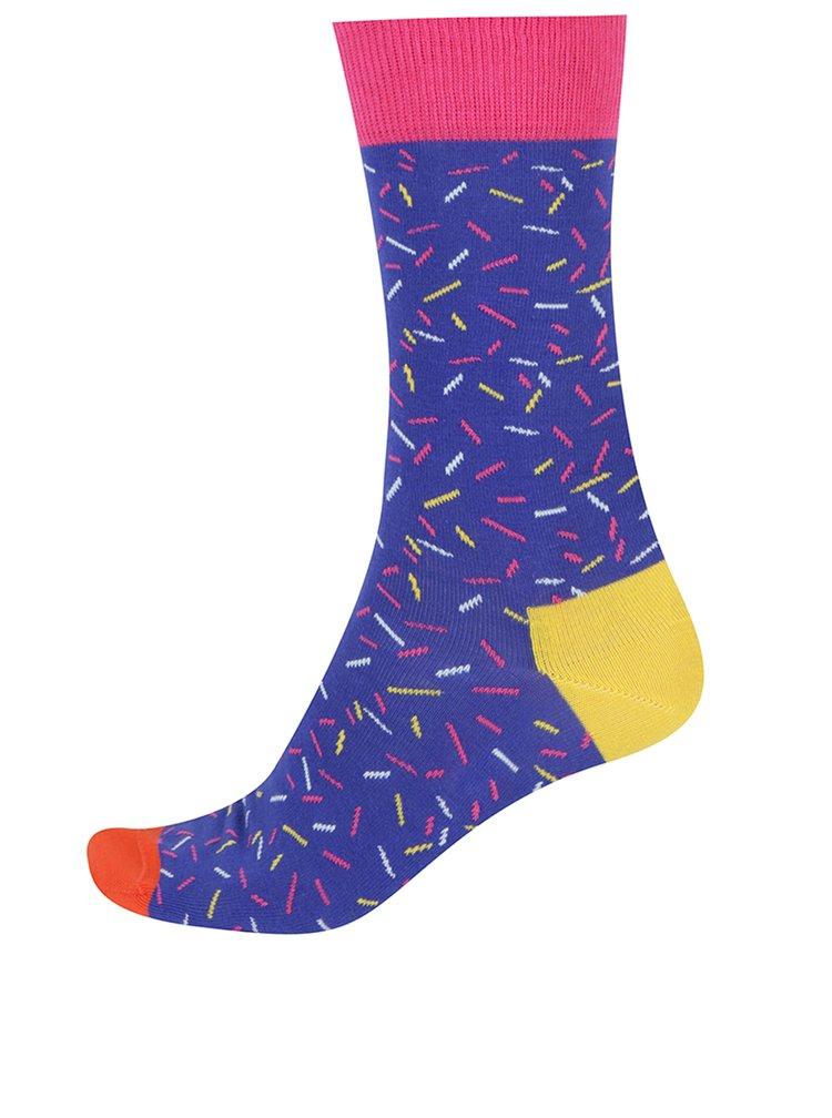 Sada tří párů pánských vzorovaných ponožek Happy Socks Birthday