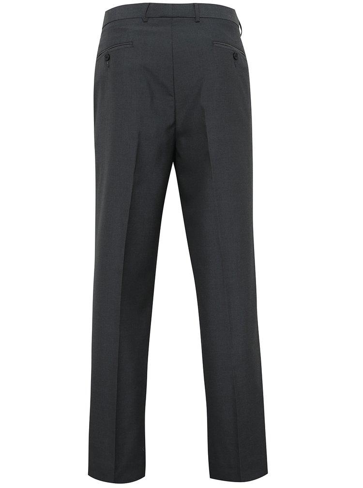Tmavě šedé formální regular kalhoty Burton Menswear London