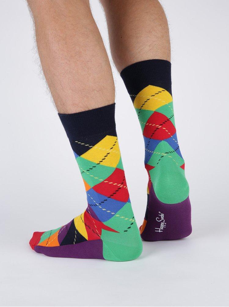 Súprava štyroch párov pánskych vzorovaných ponožiek Happy Socks Mix