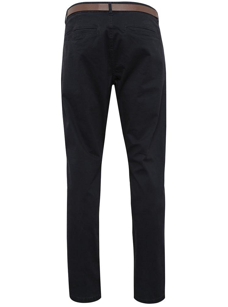 Tmavě modré chino kalhoty s páskem ONLY & SONS Tarp
