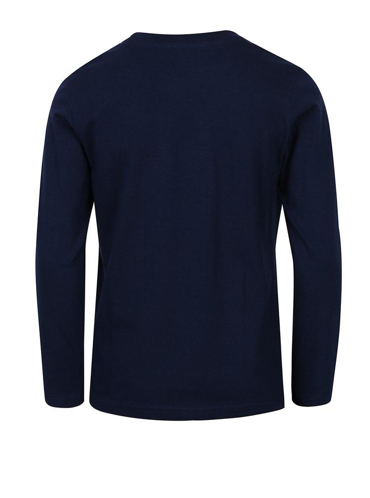 Tmavě modré klučičí triko s dlouhým rukávem 5.10.15.