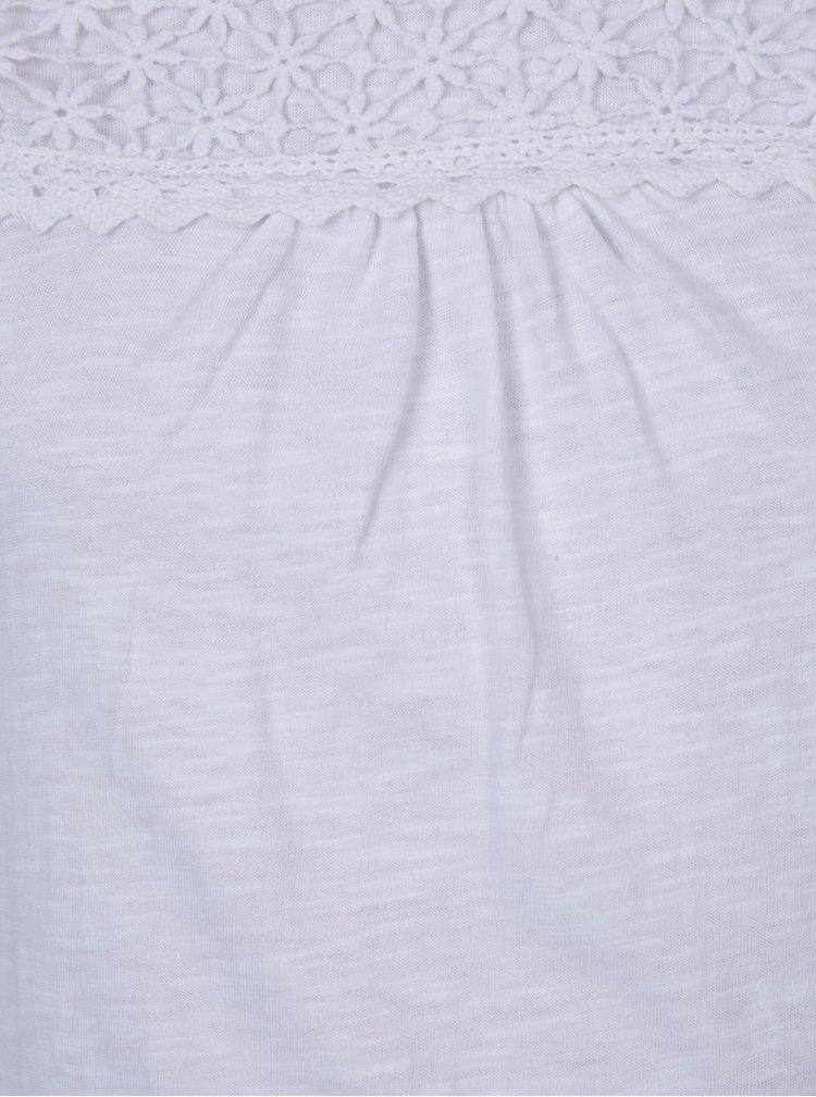 Bílé holčičí tričko s dlouhým rukávem 5.10.15.