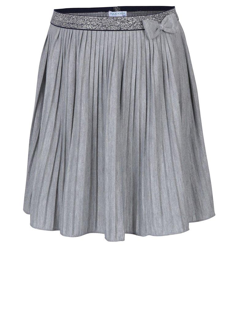 Šedá holčičí plisovaná sukně s mašlí 5.10.15.